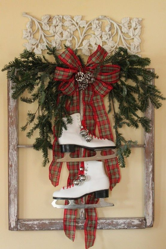 Old window used for Christmas Decor