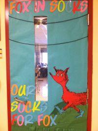 Fox in Socks door decoration   Door decorations   Pinterest