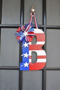 Silver Peaches - 4th of July Door Decor   *4th of July ...