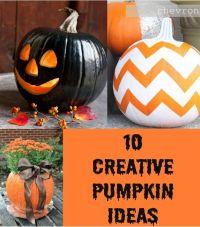 Creative Pumpkin Ideas   Halloween   Pinterest