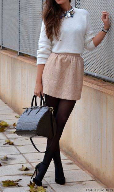 Skirt with sweater