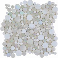 Interlocking Continued Round Glass Mosaic Tile - Buy Round ...