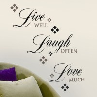 Live, Love, Laugh Wall Decal | Art | Pinterest