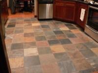 slate tile kitchen floor Great colors | Dream HOME | Pinterest