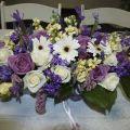 Loveeeeee sacramento spring wedding lilac purple white table