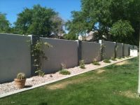 Yes, we paint block walls too! | Backyard ideas | Pinterest