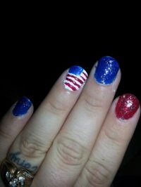 The gallery for --> American Flag Nail Design