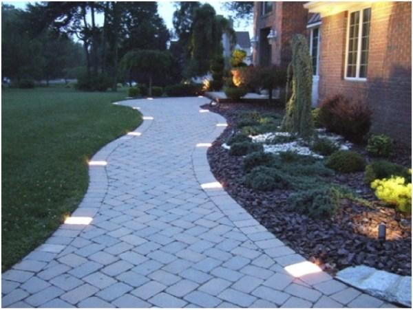 profile path lighting. gardening