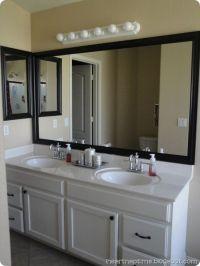 framing your bathroom mirror | Handy Girl | Pinterest