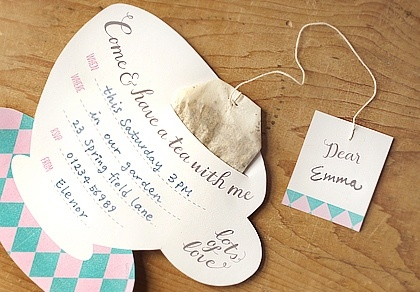 DIY Tea Party Invitation