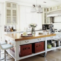 Kitchen island on wheels | Farm House Wish List | Pinterest