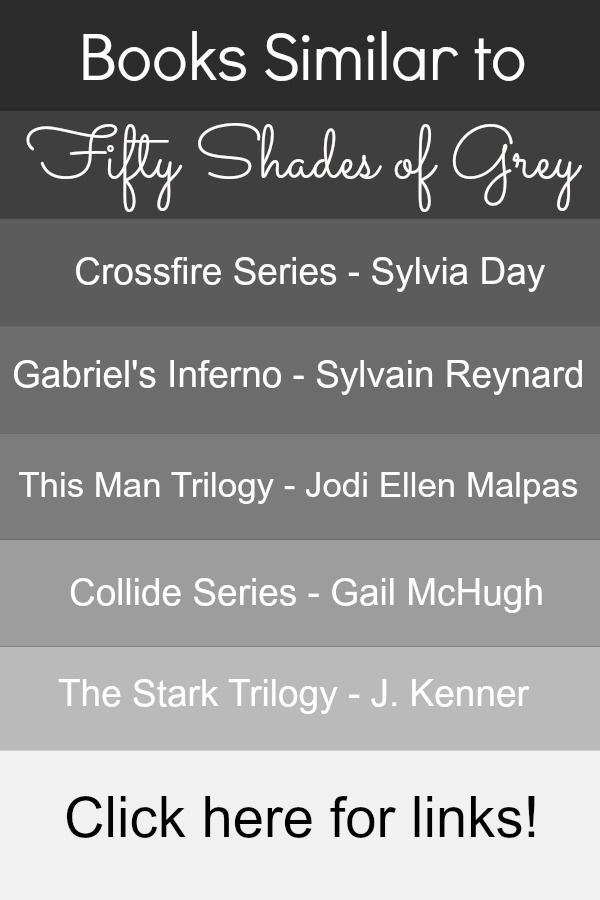 "Books similar to Fifty Shades of Grey. Awesome list!!!!  I would read Collide Series after Crossfire. I like that besides ""This Man Series"" there really isn't much bdsm if any.  Haven't  read the Stark Trilogy yet...May have to add that to my list."