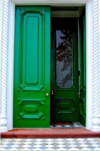 green front door | Dwellings | Pinterest