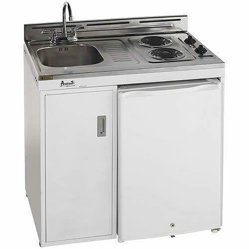 Avanti 36 Inch Complete Compact Kitchen with Refrigerator