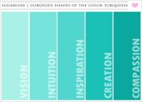 Gorgeous shades of the colour Turquoise.