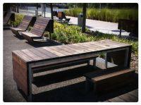 modern picnic table | Backyard | Pinterest