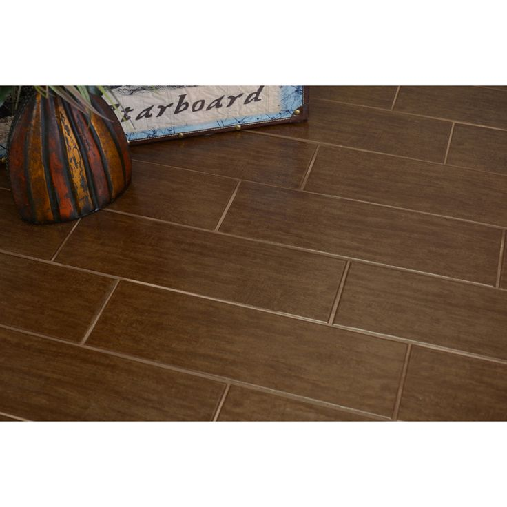 Style Selections Colonial Wood Walnut Ceramic Floor Tile