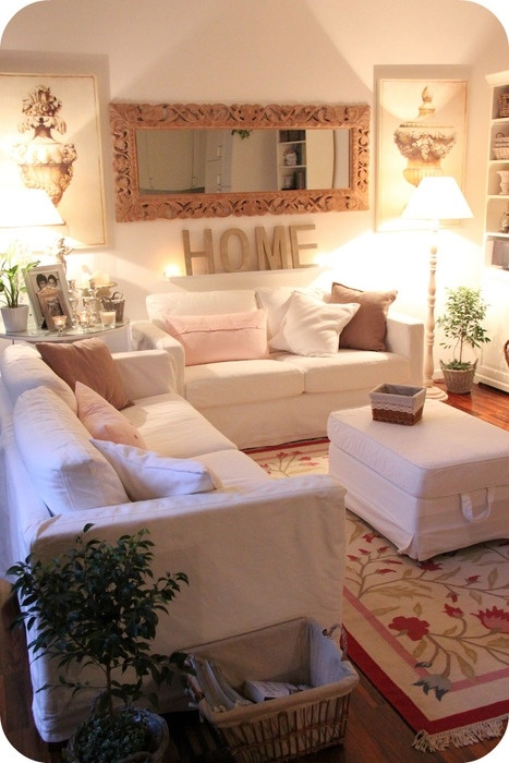 so cozy looking. great for TV room or seaside cottage