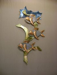 """Reef Fish """"... Brass ,Copper & Stainless Steel Metal Wall ..."""