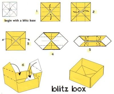 origami flower diagram in english of mouth with teeth numbers paper box step-by-step tutorial | pinterest