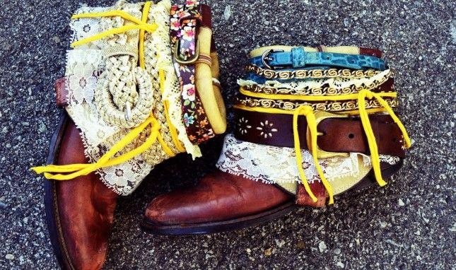 DIY Boho Belted Boots