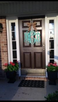 Wooden monogram front door   Fancy Front Door   Pinterest