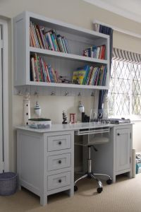Book shelf mounted above desk   For the Home   Pinterest