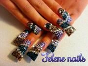 blinged flare nails bling