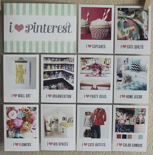 pinterest page idea for project life. Awesome idea!!