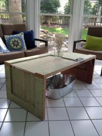 Old door turned coffee table. | For the Home | Pinterest