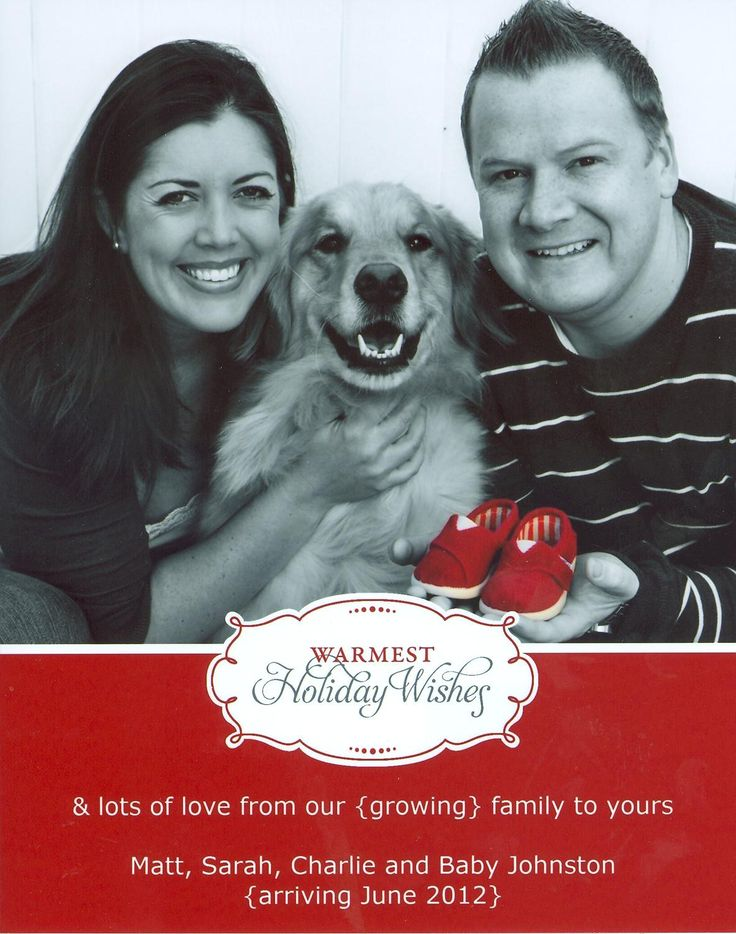 Christmas Card Pregnancy Announcement With Shoes