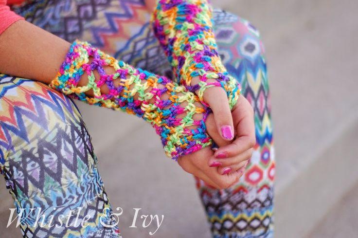 80's Fishnet Gloves: fp handcozies1