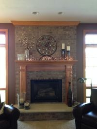 Fireplace decor | Ideas for the Home | Pinterest