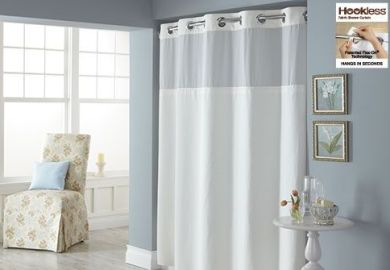 Sure Fit Hookless Diamond Pique Shower Curtains