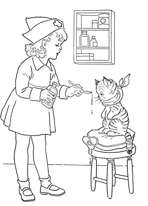 Male Nurse Appreciation Coloring Page Coloring Pages