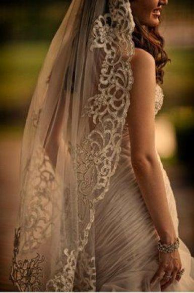 elegant, vintage veil