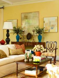 helenmckees  beautiful yellow living room....love the ...