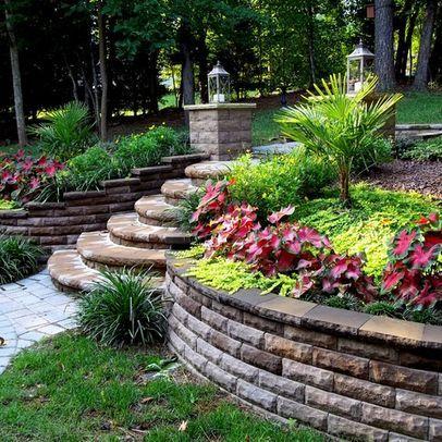 brick build backyard landscaping