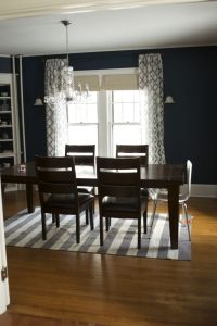 Navy blue dining room | Home | Pinterest