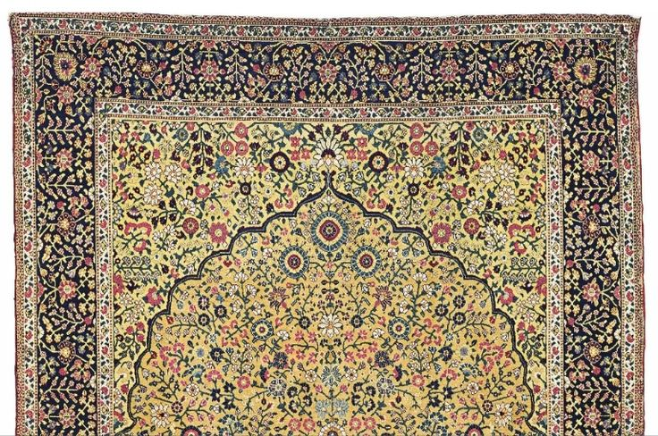 The Douglass Mughal 'Millefleurs' prayer rug, North India, probably Lahore or Kashmir, 18th century