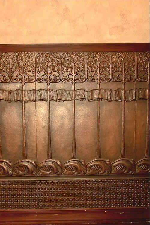 Paintable Lincrusta wall panels