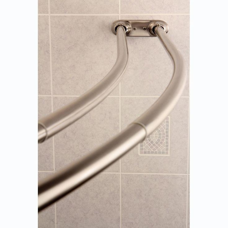 Satin Nickel Shower Curtain Rod