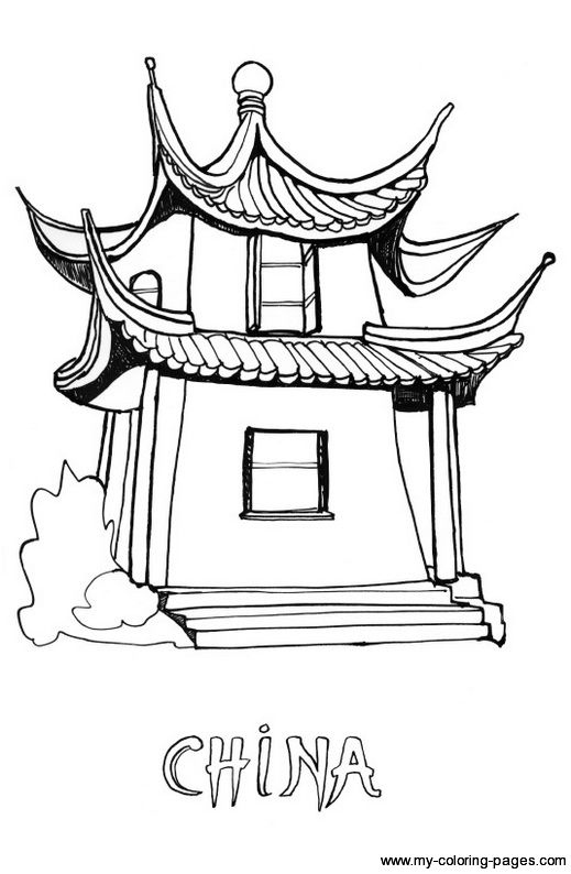 chinese coloring pages for kids