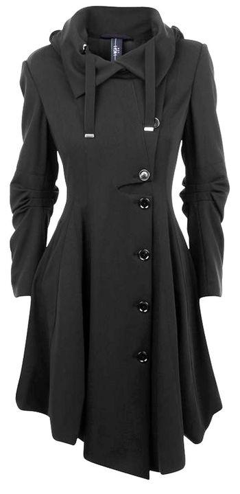 Winter fashion - Black Coat