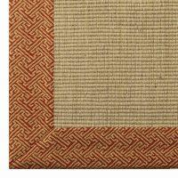Geometric Border Wool Sisal Rug