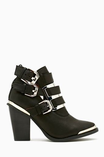 Hyatt Buckled Bootie in Black by #JeffreyCampbell