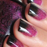 Pink and Black Ombre Nails | Things to Wear | Pinterest