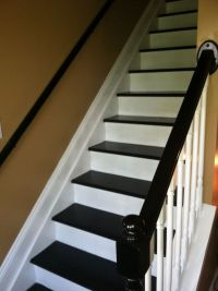 black and white staircase   For the Home   Pinterest