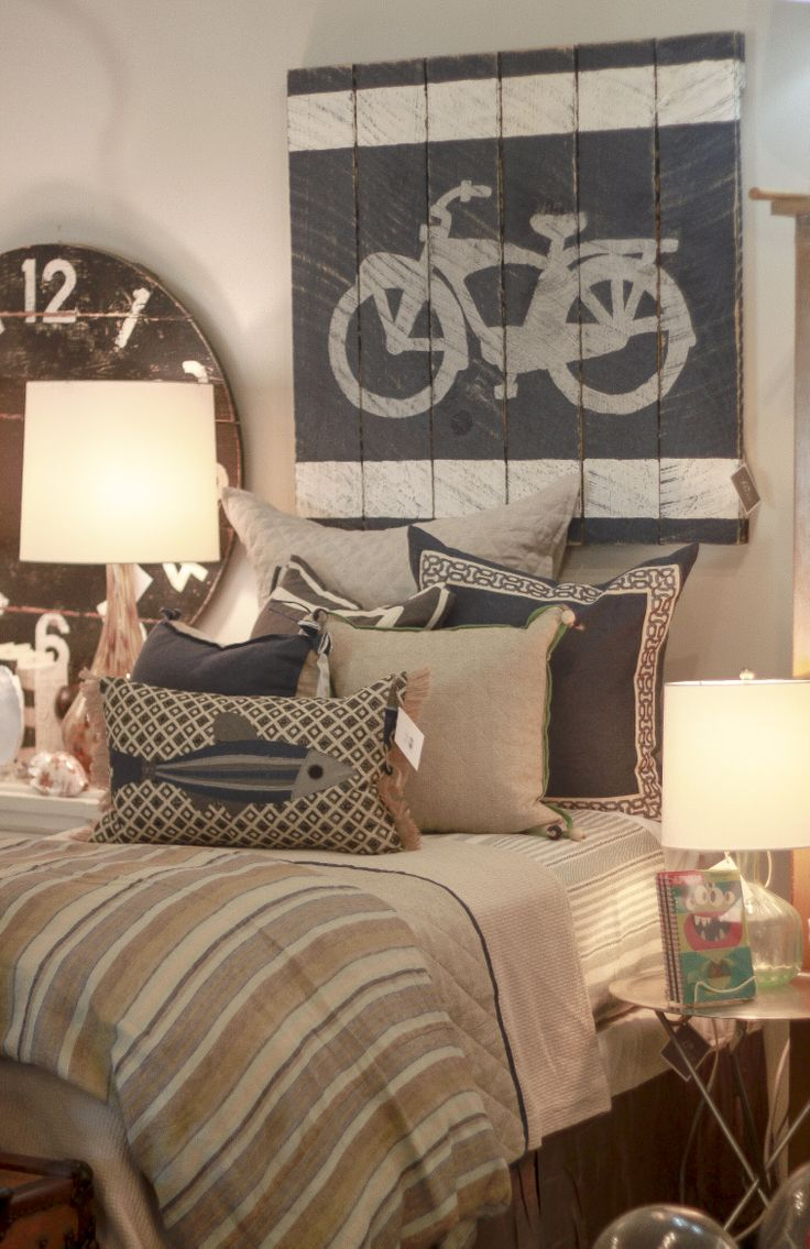 boys bedroom at Peridot  Buckhead - Lacefield Designs pillows #lacefielddesigns