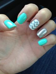 turquoise nails nail design